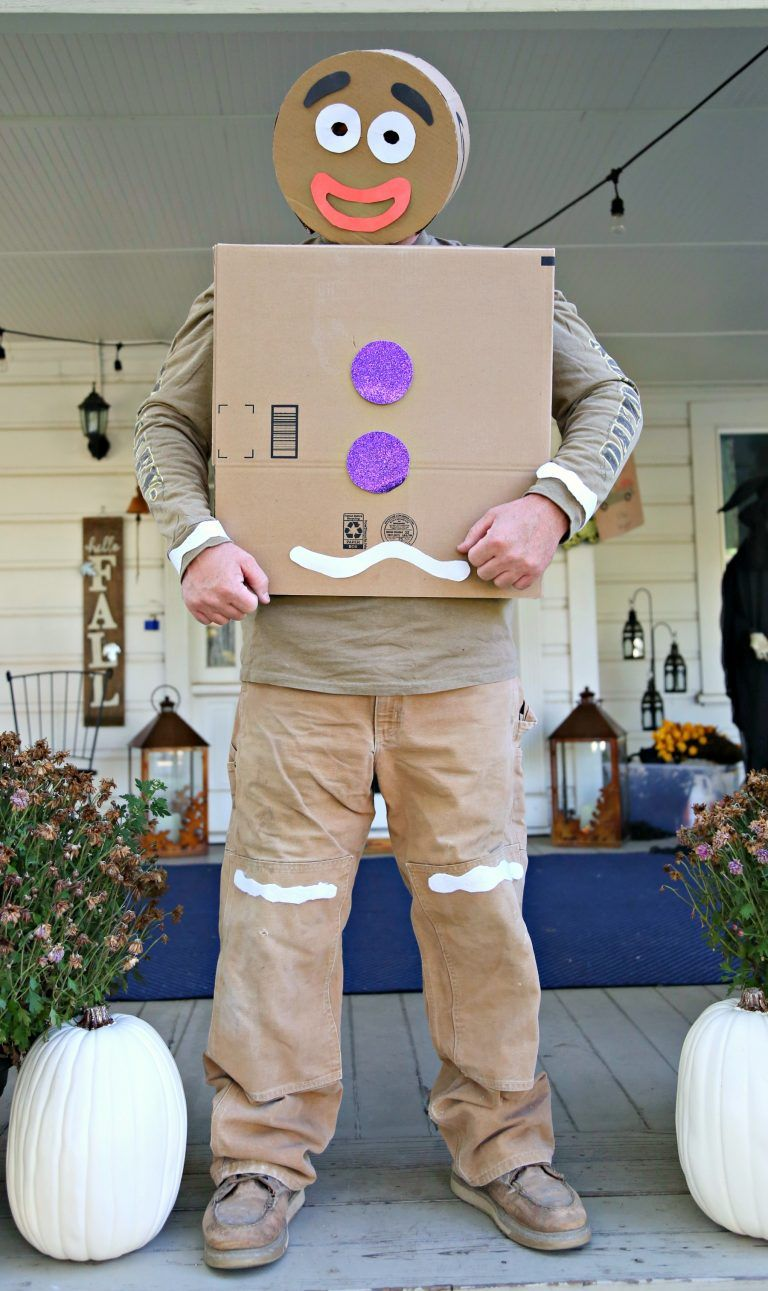 DIY Gingerbread Man Costume from Boxes (With images