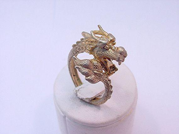 Benutzerdefinierte 14K gold Dragon Ring.  9 von mastergoldcraft, $965.00