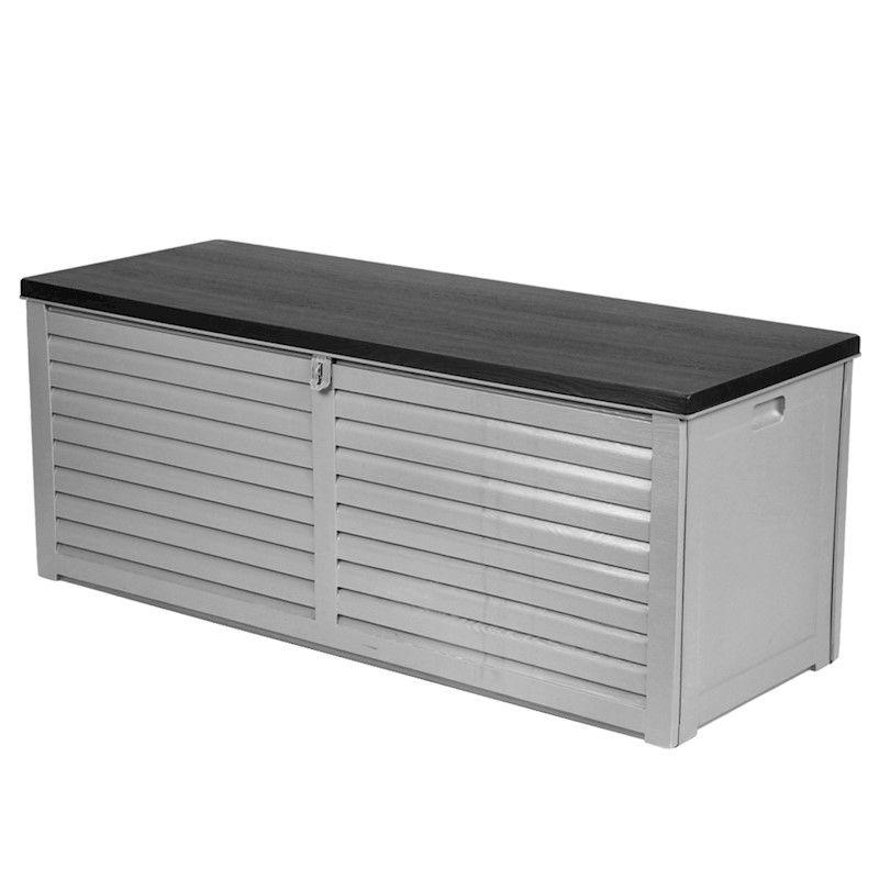 Outdoor Storage Box Bench Seat Indoor Garden Toy Tool Sheds Chest 390l Outdoor Storage Bench