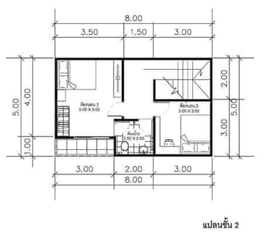 House Plans Idea 8x5m With 3 Bedroomsthe House Has Car Parking And Garden Living Room Dining Room Ki In 2020 House Plans House Floor Plans 3 Bedroom Home Floor Plans