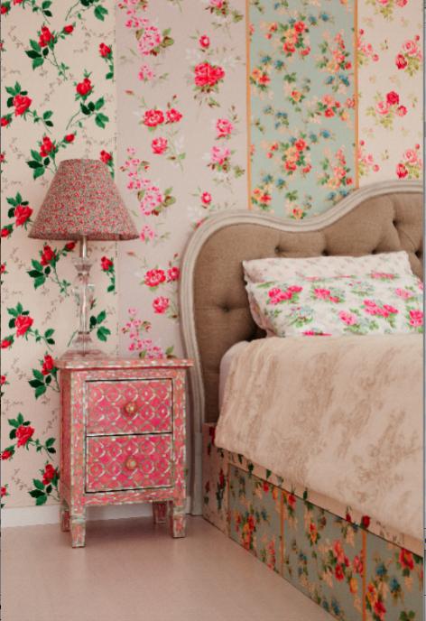 Best Vintage Wallpaper Strips On Wall Patchwork Wallpaper 400 x 300