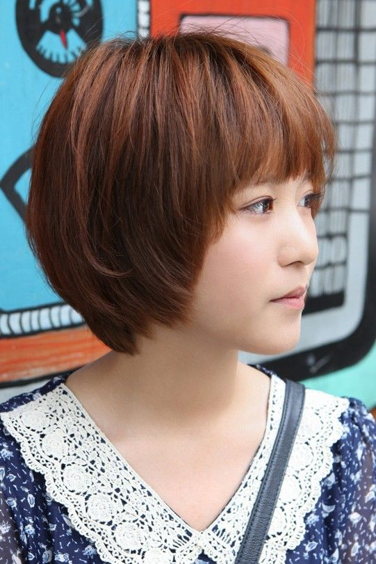 Sweet Layered Short Korean Hairstyle Side View Of Cute Bob Cut In