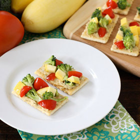 #Chopped #Veggie #Salad on #Keebler® #Club® #Crackers  Click here for the #recipe: http://www.mymilitarysavings.com/recipes/chopped-veggie-salad-on-keebler-club-crackers