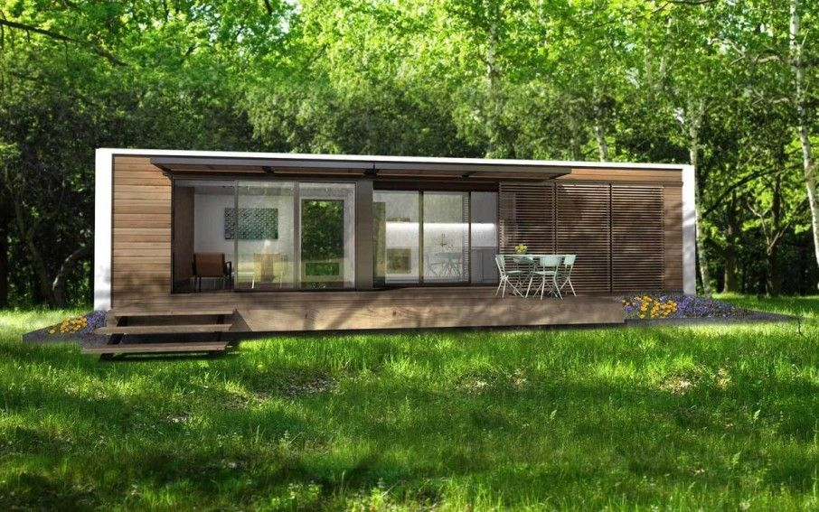 Modern-design-of-Houses-Made-from-Shipping-Containers-at-the-Forest - prix assainissement maison individuelle