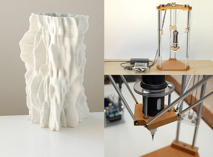3D Printed Clay: Ceramic Sculptures and Printer by Jonathan Keep