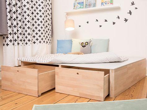 Schubladen Badezimmer ~ Die besten 25 podestbett mit schubladen ideen auf pinterest