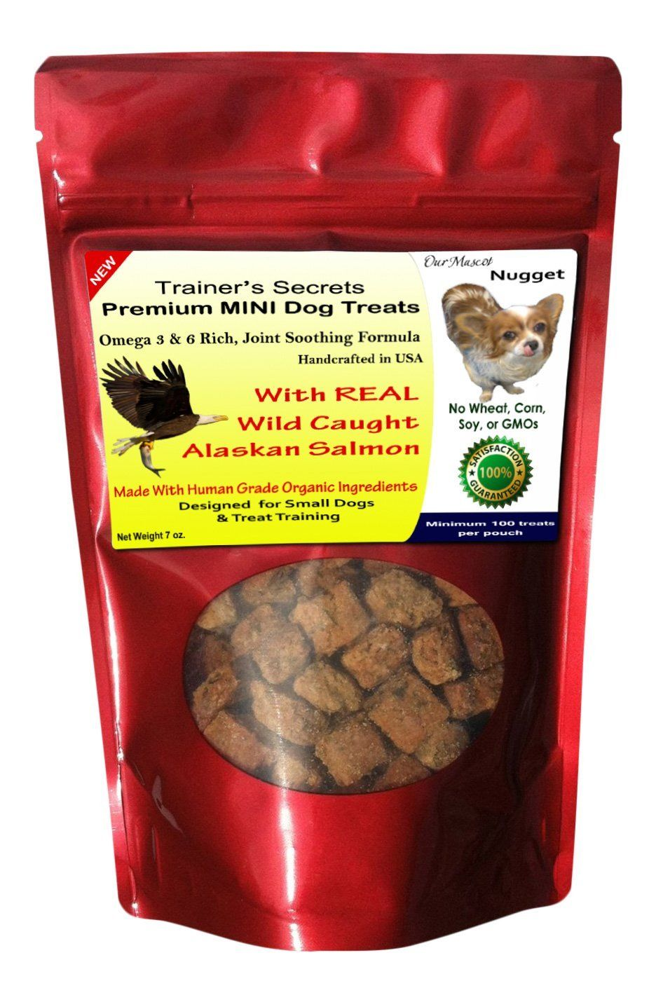 Wild Salmon Dog Treats Made In Usa Only With Healthy Organic