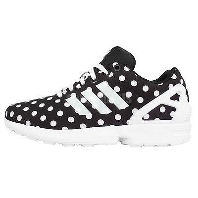 Adidas Originals ZX Negro Flux W Polka Dot Negro ZX Blanco Mujer Running 0704f7
