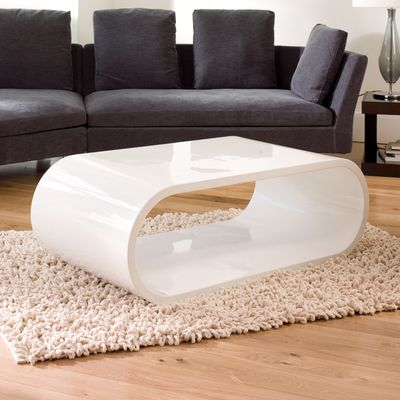 Modern Oval Gloss Coffee Table Super White Color Zambezi Home Modern Coffee  Table   Decorlock.