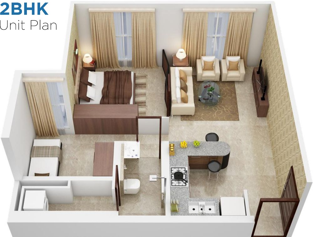800 sq ft house plans 3d | Faire construire sa maison | Pinterest ...
