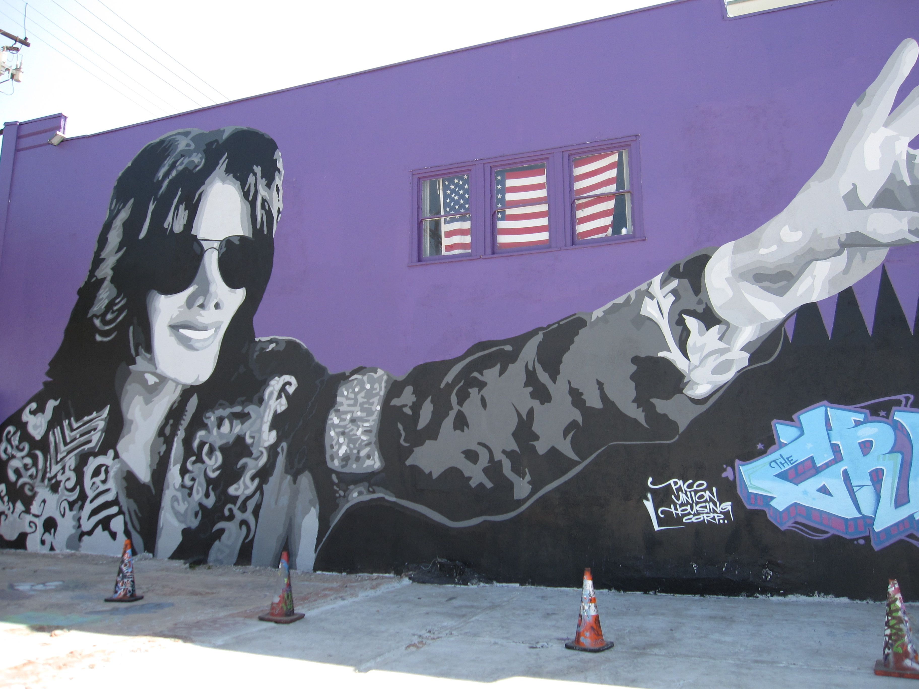 This Mural is at the Graff Lab in Down Town LA near Staples Center #MichaelJacksonBirthday #inhollywoodtv