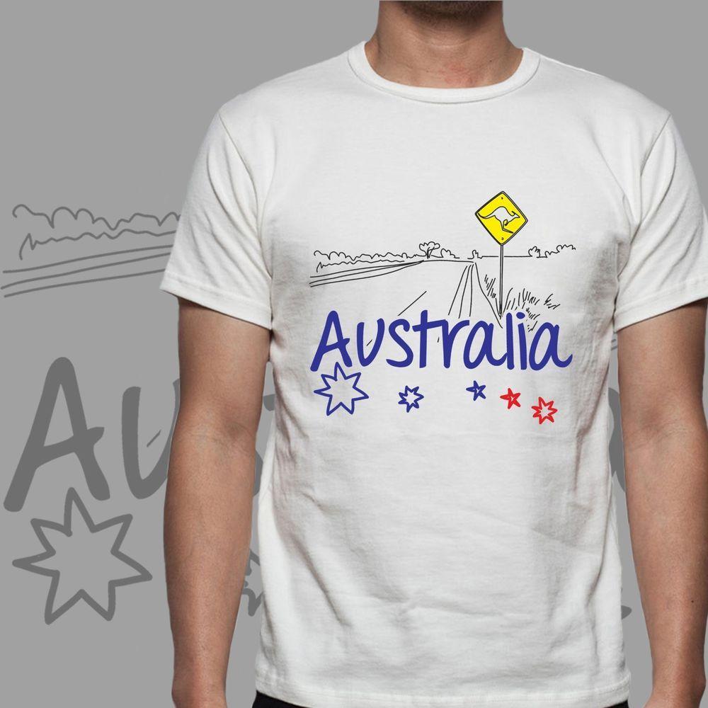 Shirt design australia - Australia Kangaroo Desert T Shirt Design Man Woman Sizes S