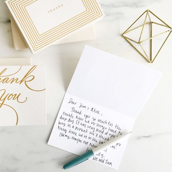 Thank You Wording For Wedding Gifts: Wedding Wednesdays: Penning The Perfect Thank You Note