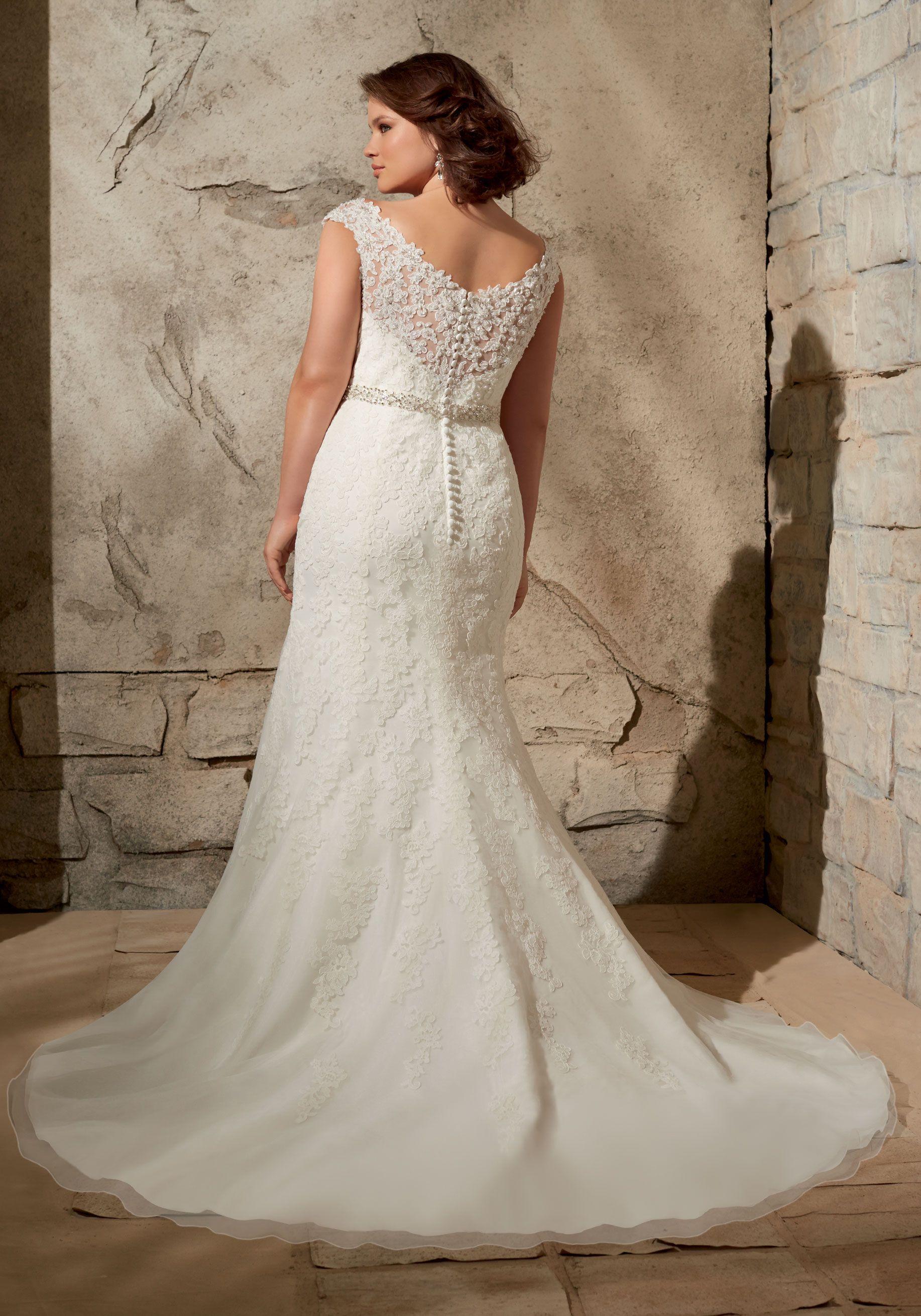 Alencon lace on net crystal beading plus size wedding dress colors alencon lace on net crystal beading plus size wedding dress colors available white junglespirit Gallery