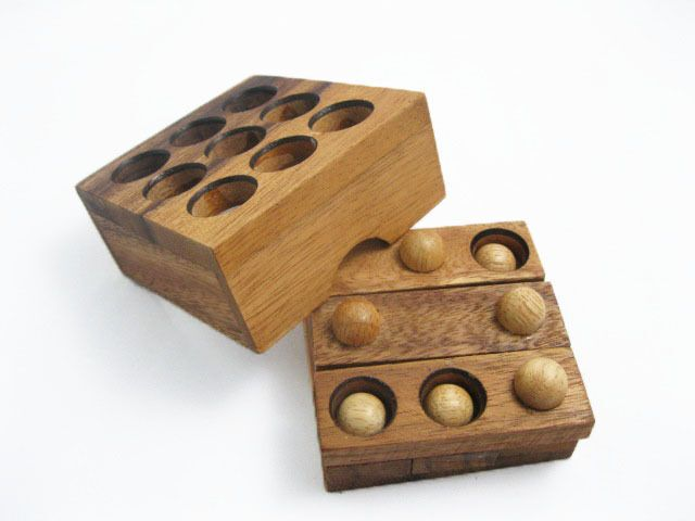 Button Puzzle Wooden Puzzle Game Strategy Game Brain Teaser