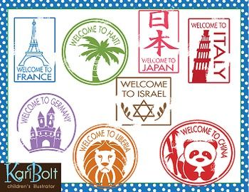 Passport Stamps Clip Art Kid Stuff Passport Stamps