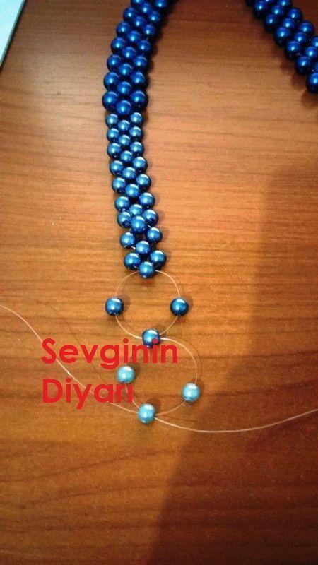 Photo of Copper, Navy, Blush, Gray Diamond Bead Loom Bracelet, Boho Per …