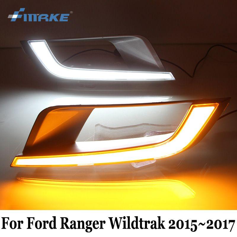 Smrke Drl For Ford Ranger Wildtrak 2017 Car Led Daytime Running Lights