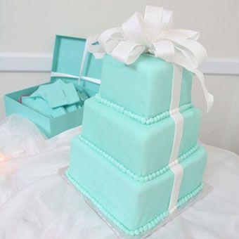 Brides Tiffany Blue Gift Box Wedding Cake Celebration Cakes In Largo Made The Tiered