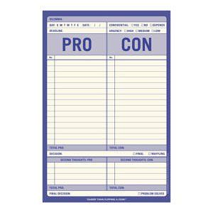 Pro Con Pad Love It Note Paper Knock Knock Diy Notebook
