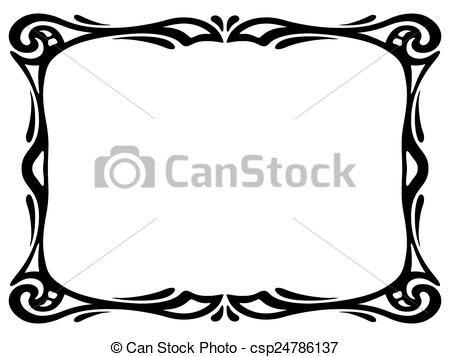vector art nouveau black ornamental decorative frame stock rh pinterest ca art nouveau clipart free download art nouveau frame clipart