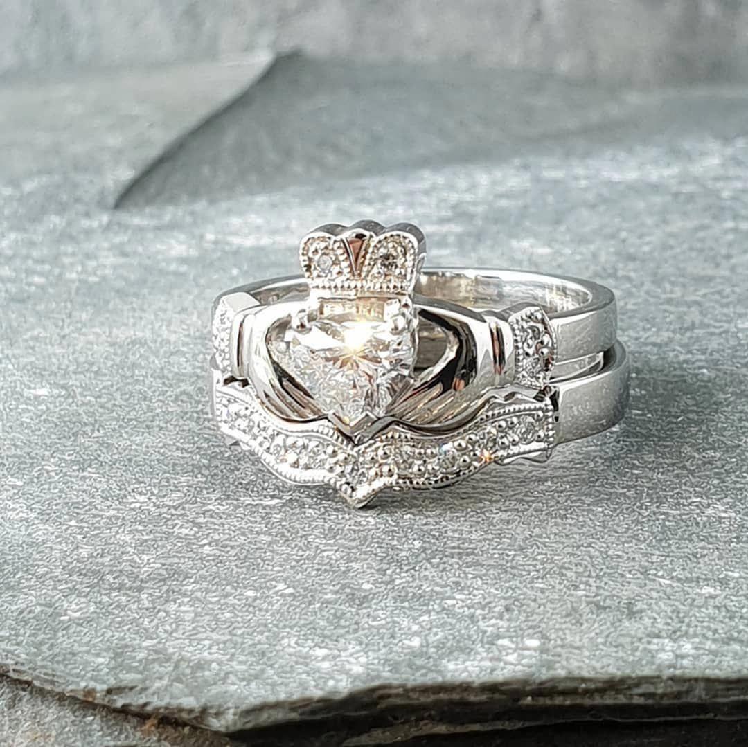 Moonstone Engagement Ring White Gold Vintage Engagement Ring Oval