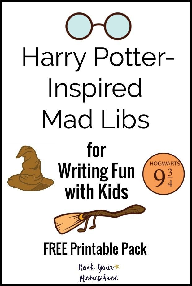 Get Ready For Some Awesome Writing Fun With Your Kids FREE Printable Pack Of Harry Potter Inspired Mad Libs