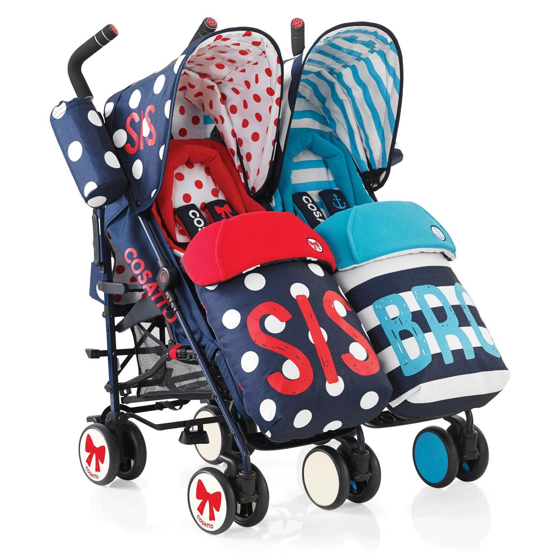 Cosatto Supa Dupa Twin Stroller Sis N Bro 4 Kiddicare