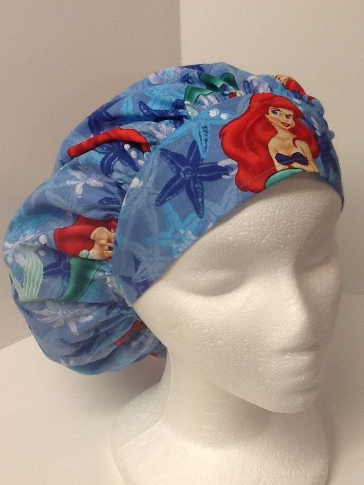 Ariel Little Mermaid Medical Bouffant OR Scrub Cap Surgical Surgery ...