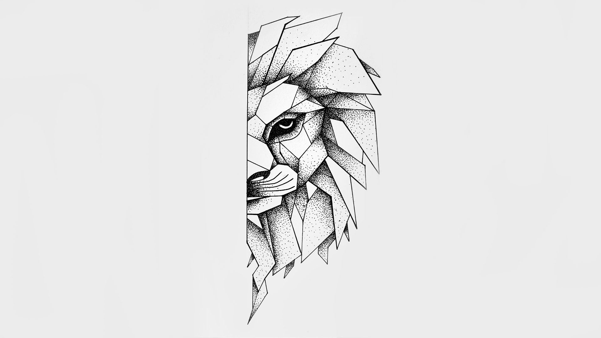 Dotwork Lion Speed Drawing 2 Youtube Lion Tattoo Design Geometric Lion Tattoo Lion Tattoo