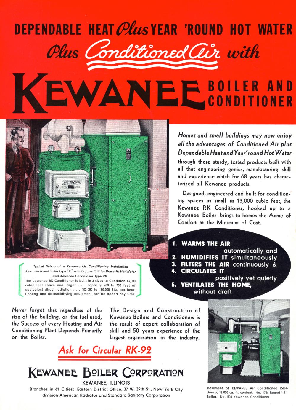 GALLERY Vintage HVAC Advertisements, 1936 American air