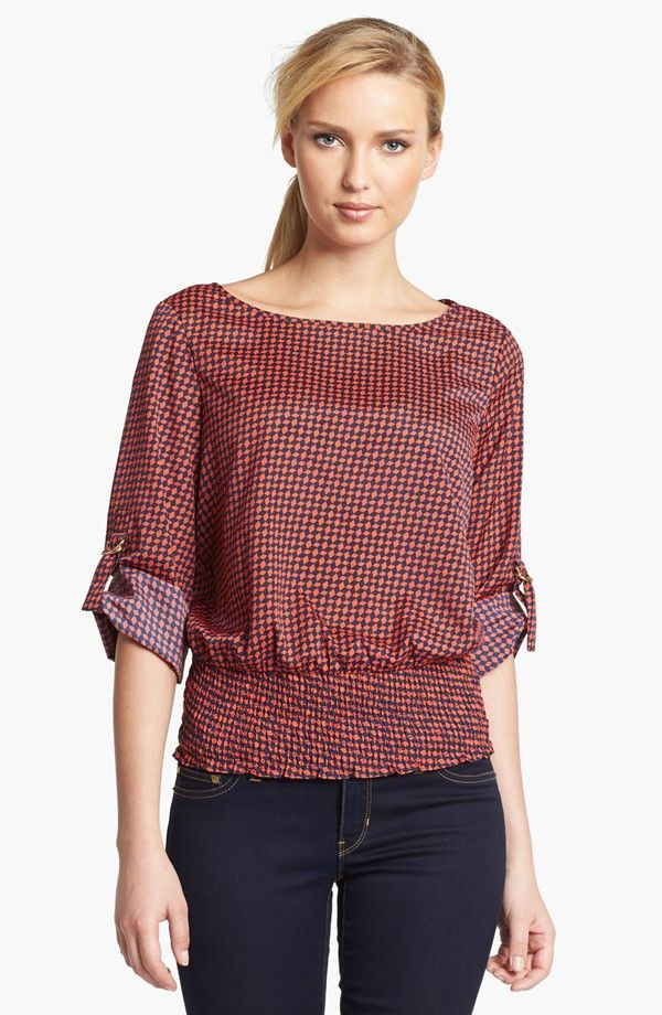 874111244 a flowy top while still showing that you have a waist -- would like a  different fabric pattern though