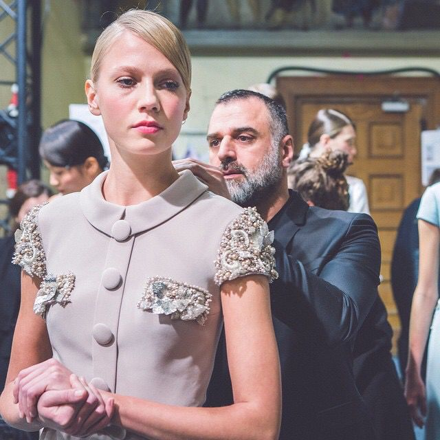 The finishing touches. Georges Hobeika ss15.