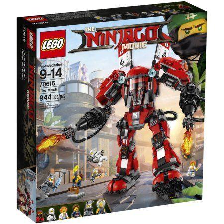 Lego Ninjago Movie Fire Mech 70615 Building Set 944 Pieces Walmart Com In 2021 Lego Ninjago Ninjago Lego Sets Lego Ninjago Movie