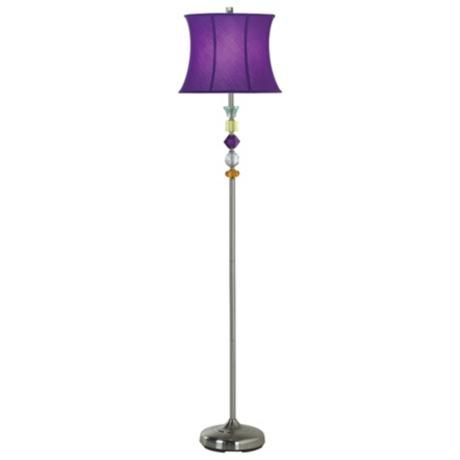 Purple bijoux floor lamp style 89422 floor lamp purple lamp purple bijoux floor lamp love this aloadofball Gallery