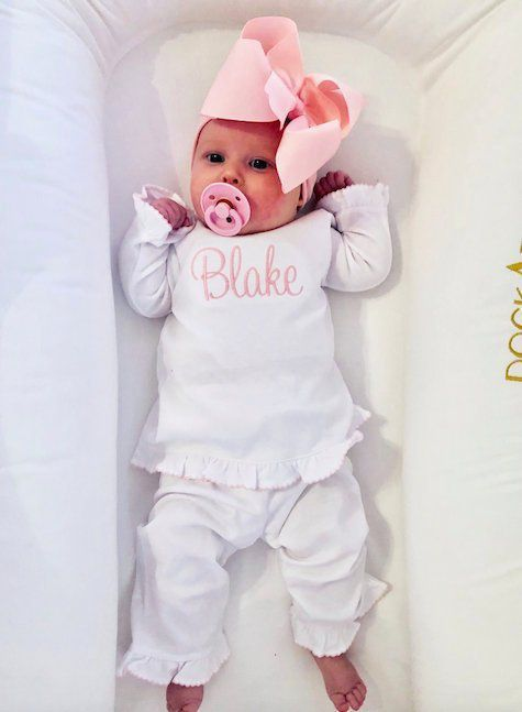 Photo of Baby girl coming home outfit, monogrammed newborn take home outfit, Personalized Baby gift, pima cotton, newborn pictures, shower gift