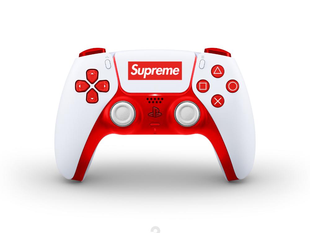 New Concept Designs For The Dualsense Ps5 Supreme Controller Design Concept Design Video Game Room Design