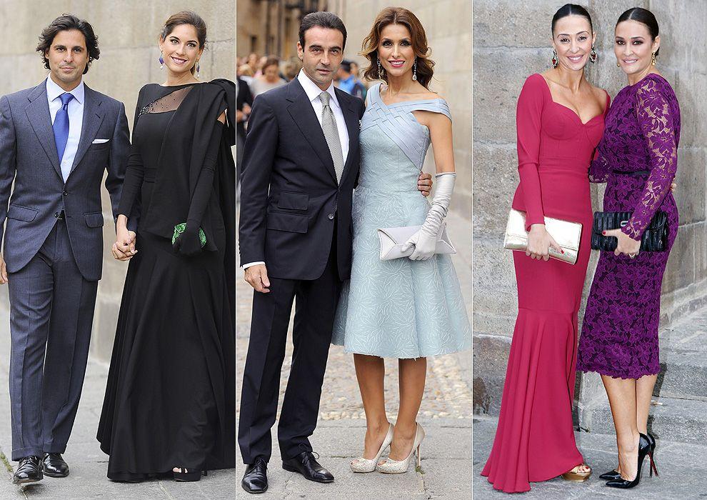 Espectacular desfile de invitados en la boda de Miguel Ángel Perera ...