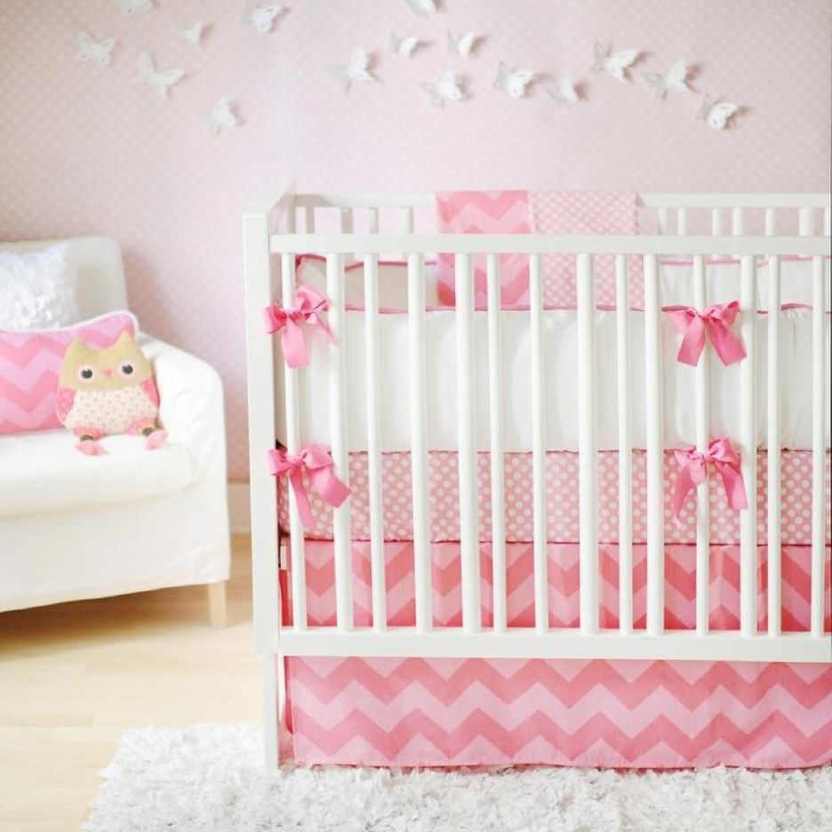 Such a cute girl nursery decoration using white butterfly wall ...