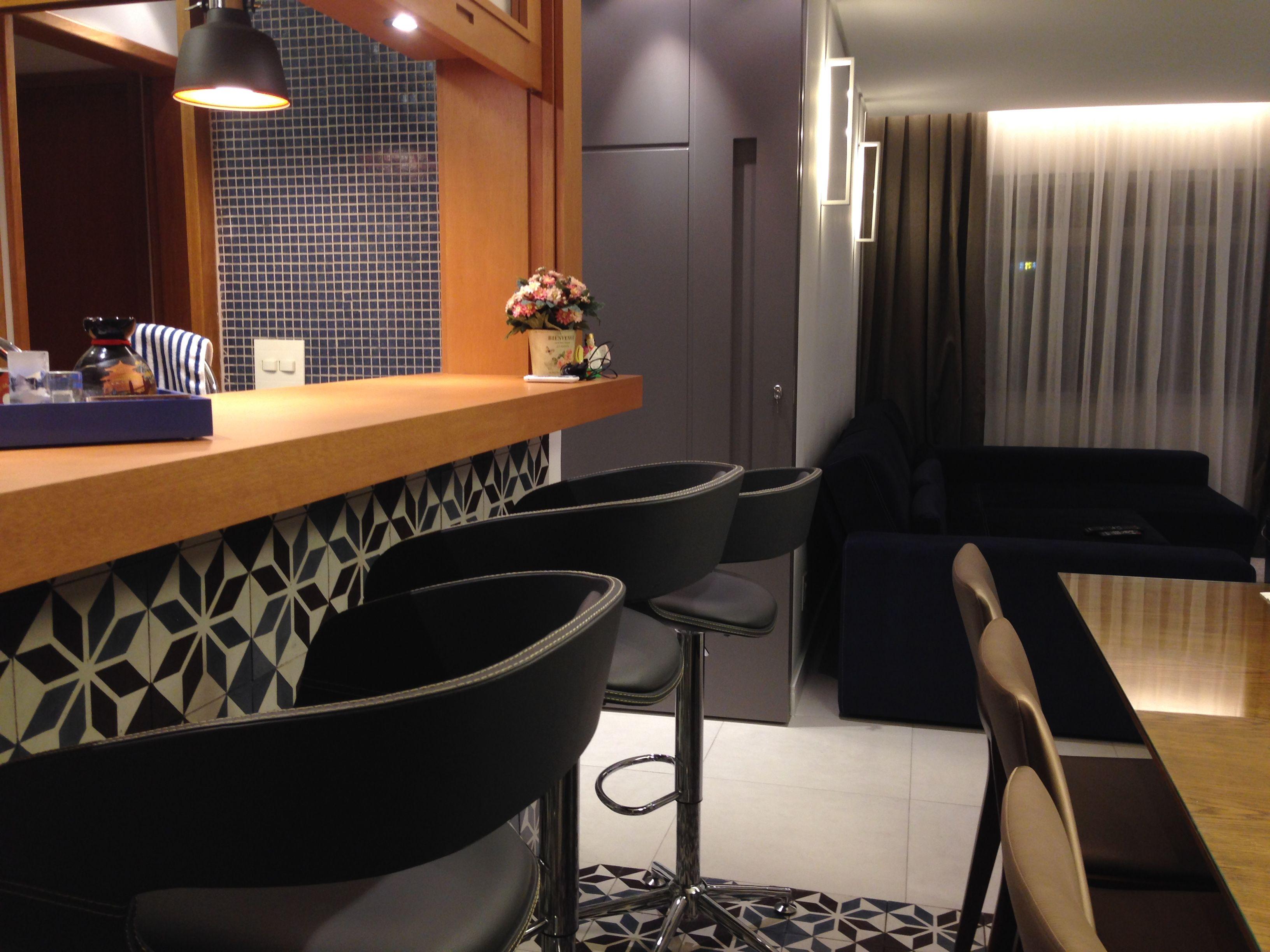 Pequeno Apartamento De 76m2 Reformado Para Atender Uma Fam Lia De 04  -> Acabamento De Sala E Cozinha