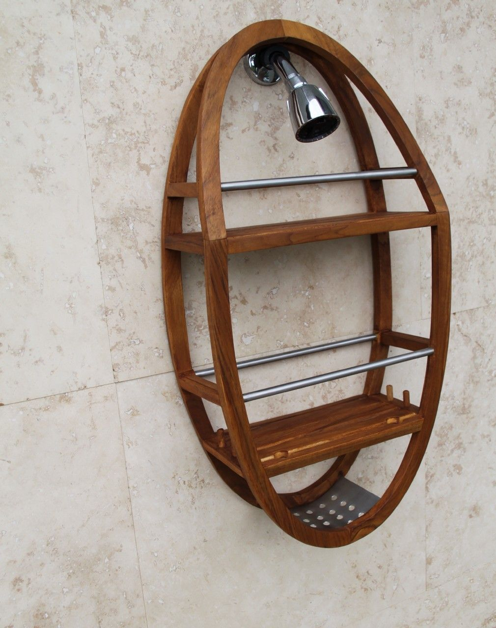 The Original Moa Teak Stainless Shower Organizer Teak Shower Shelf Shower Organization Teak Shower