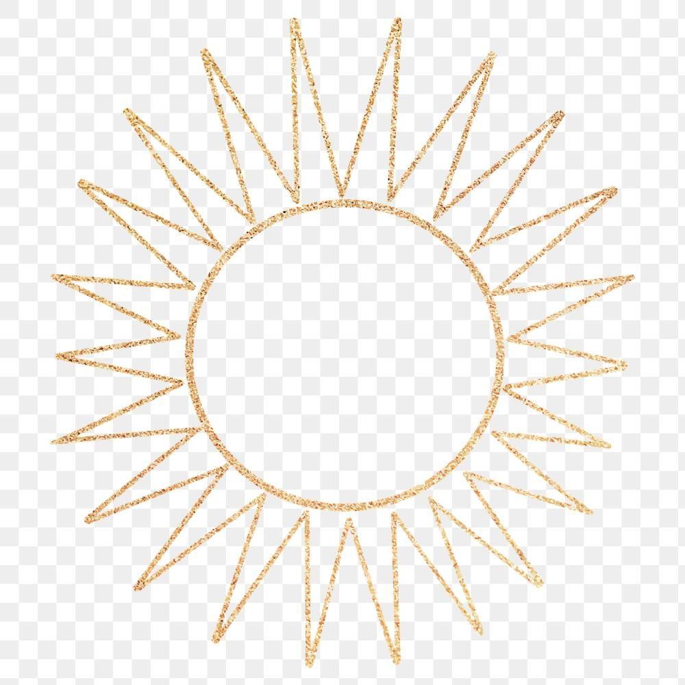 Gold Sun With Ray Line Art Design Element Free Image By Rawpixel Com Nap Line Art Design Line Art Design Element