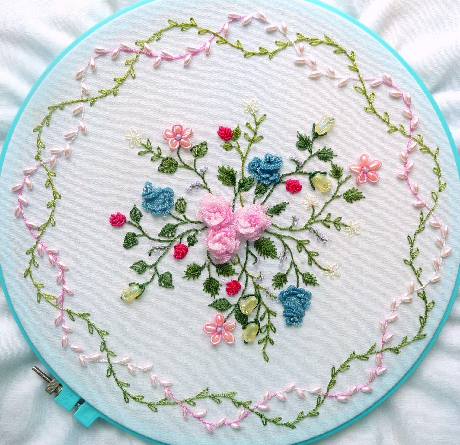 Hand embroidery designs rose flowers pixshark