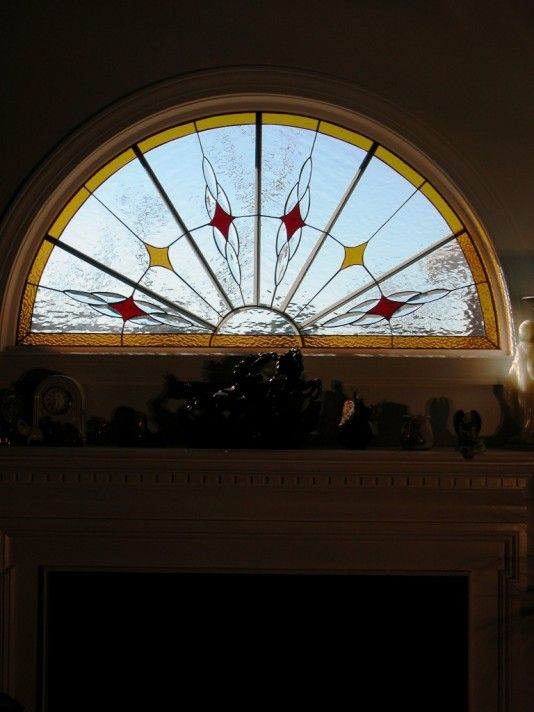 Pool Half Round Stained Glass Stained Glass Window Panel Stained Glass Flowers