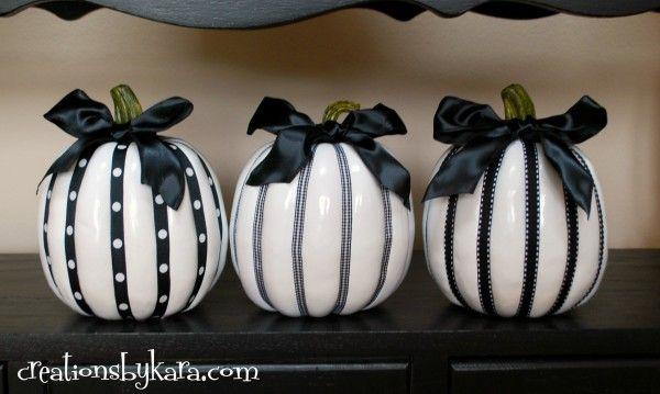 Nightmare Before Christmas Wedding- Black and White Pumpkins