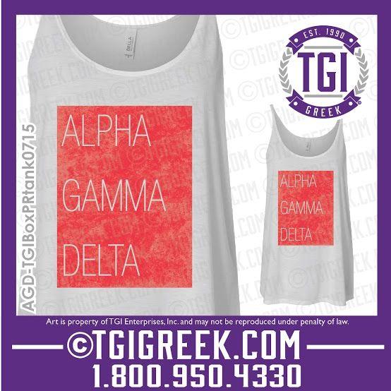 TGI Greek - Alpha Gamma Delta - Sorority PR - Greek Apparel - Bid Day Gifts  #tgigreek #alphagammadelta #bidday