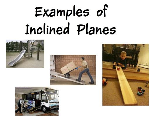 inclined planes examples | science for preschoolers | pinterest