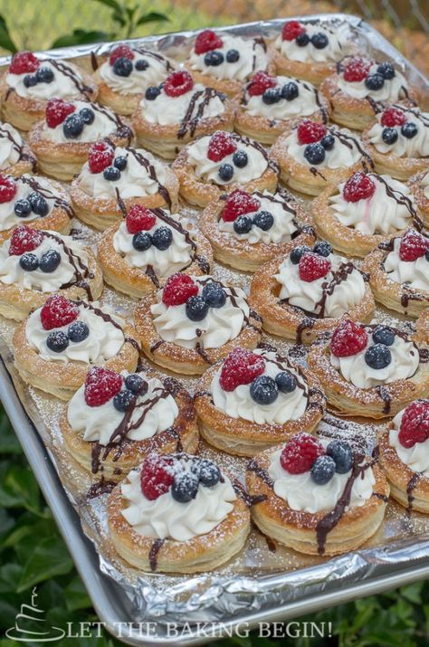 Puff Pastry Berries & Cream Tarts - Let the Baking Begin!