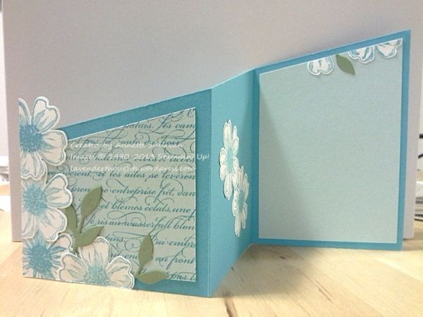 Flower Shop Turquoise Trifold by fauxme - Cards and Paper Crafts at Splitcoaststampers
