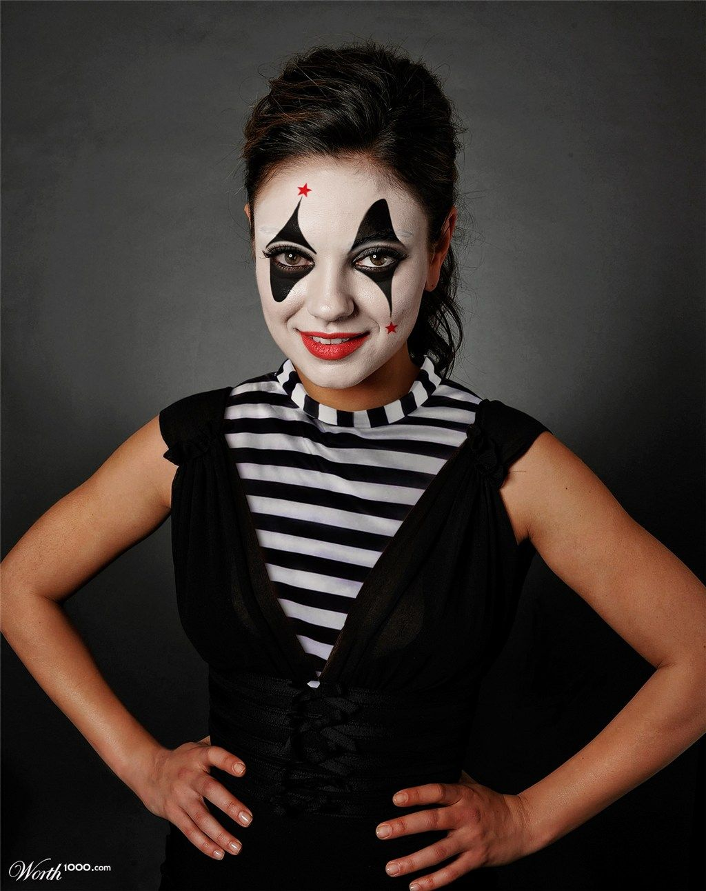 mime mila kuniz worth1000 contests celebrity clowns pinterest halloween kost m und fasching. Black Bedroom Furniture Sets. Home Design Ideas